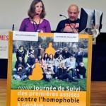 Catherine Gaillard et Philippe Scandolera, co-présidents de la Fédération genevoise des associations LGBT