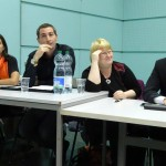 Louise Morand, candidate pour le Parti Libéral Radical Anthony Jaria, candidat pour le Parti Bourgeois Démocratique Esther Hartmann, candidate pour les Verts Jérôme Fontana, candidat pour les Vert'libéraux