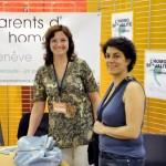 Carole Garcia, association Parents d'homos, et Anne Moratti, députée au Conseil municipal