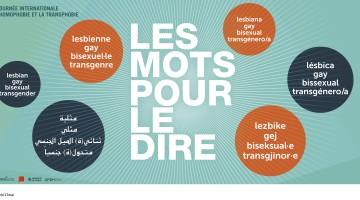 Campagne contre l'homophobie et à la transphobie: «Les mots pour le dire!» de la Ville de Genève