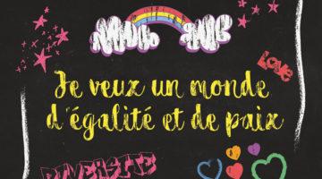 «Je veux un monde d'égalité et de paix»